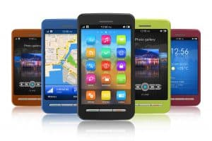 Smartphone iphone, Android eller TizenSmartphone iphone, Android eller Tizen