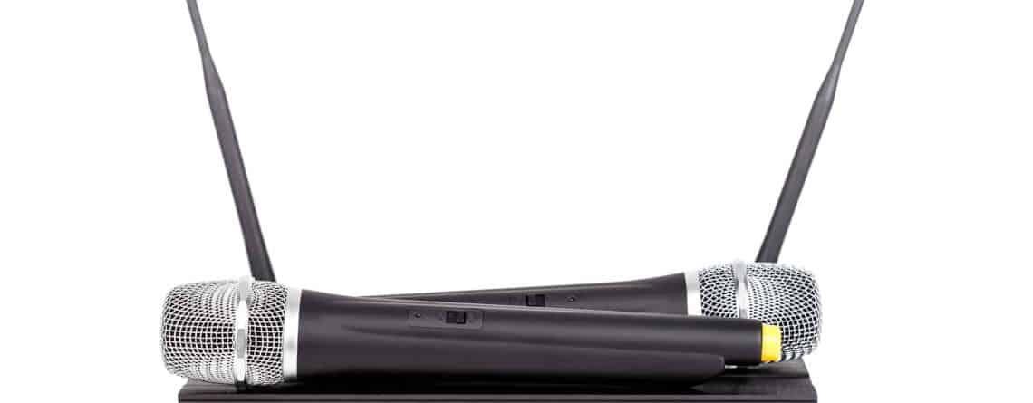 Trådløse mikrofoner bruges i stor stil