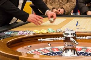 Stor roulette på et rigtig casino